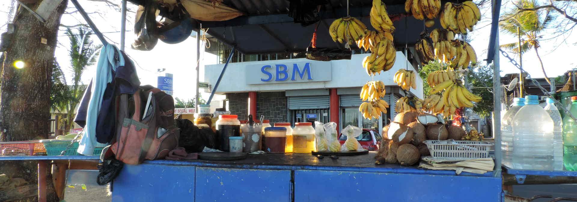 Straßenverkaufsstände auf Mauritius