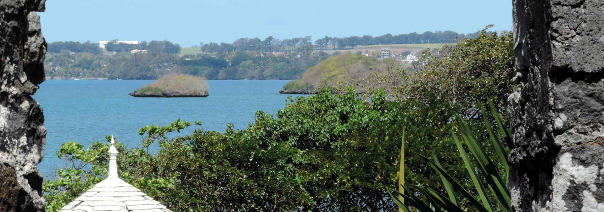 Restos del asentamiento holandés en Mauricio