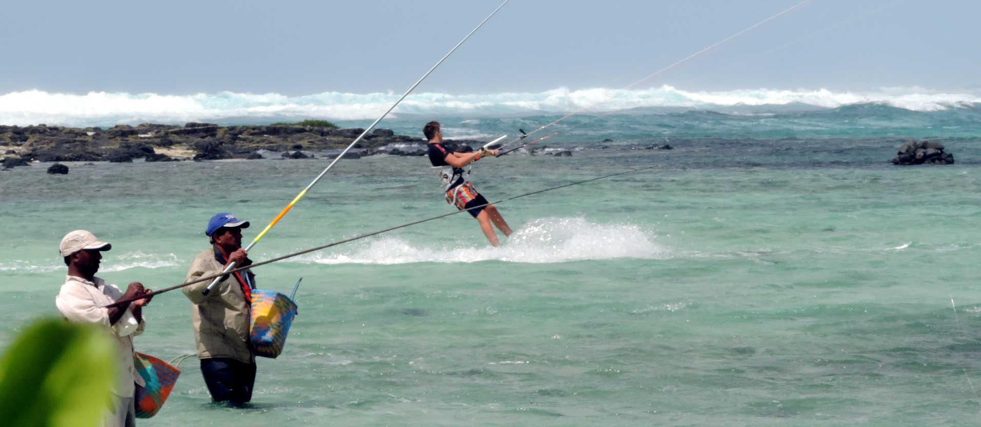 Kitesurfen in Poste Lafayette Mauritius