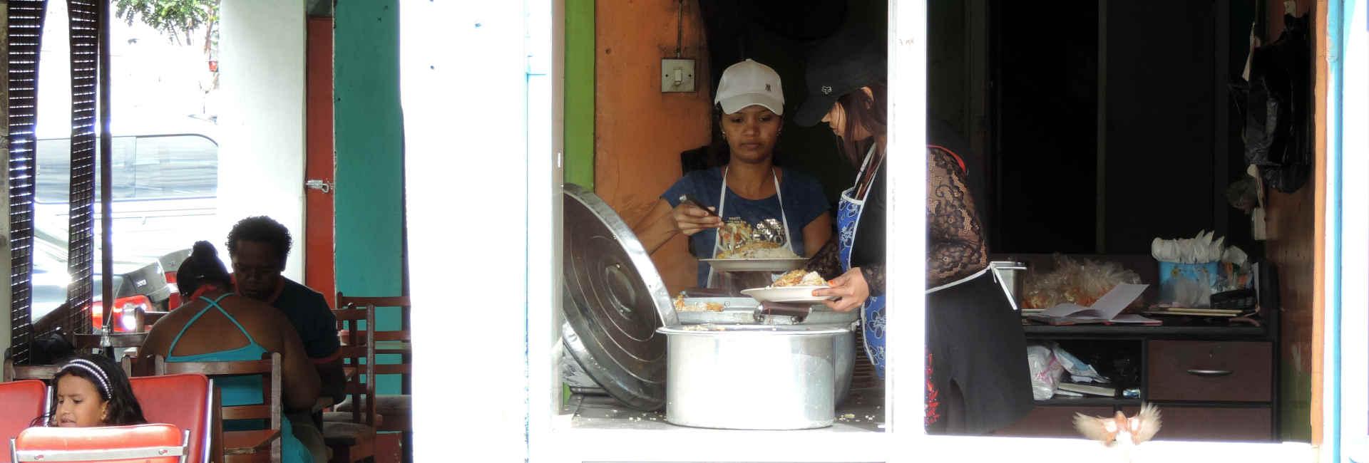 Typical village restaurant in Mauritius
