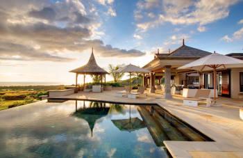 Villen im Erholungsgebiet auf Mauritius