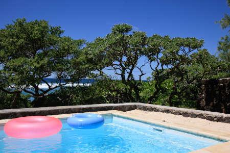 Traditional beach villa in Mauritius